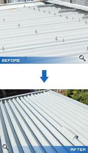 塗装前後の屋根