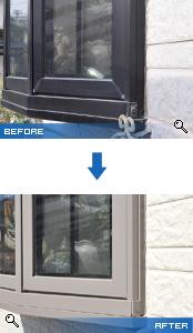 出窓部分の塗装
